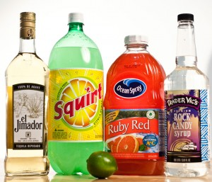 tequila with squirt Add 1 shot of tequila and fill the rest of the glass with grapefruit soda, like squirt or .
